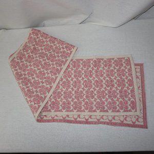 COACH pink ivory metallic merino wool scarf SIG C